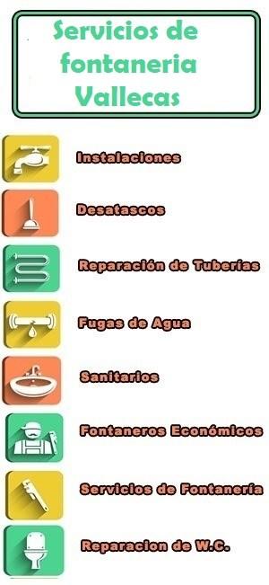 servicios de fontaneria en Vallecas